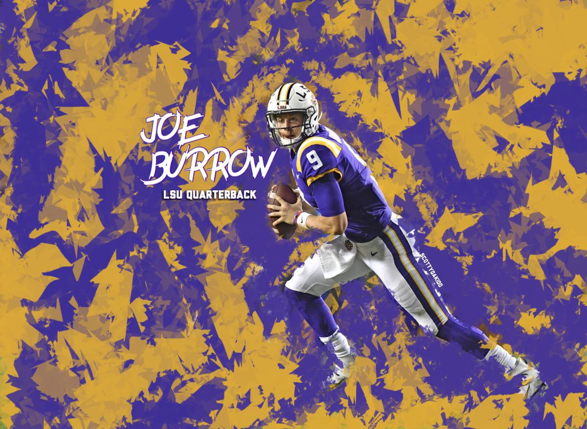 Quick Joe Burrow Wallpaper LSUFootball 1200x877