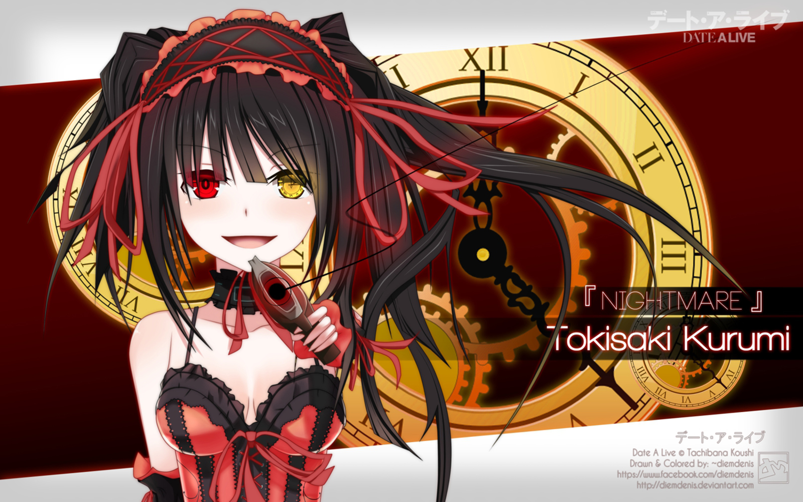 Date A Live Anime Tokisaki Kurumi Anime Girl HD Wallpaper Desktop 1600x1001