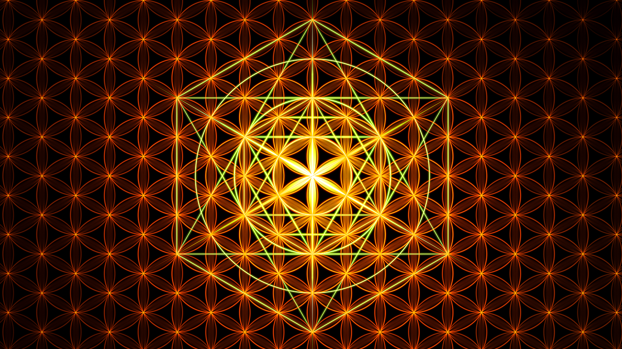 Sacred Geometry Flower Of Life Wallpaper Flower of life v2 by janrobbe 1280x720