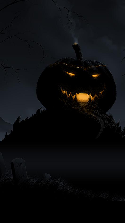 Halloween Gathering Storm iPhone6 Wallpaper 530x941