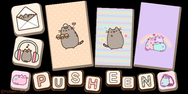 Pusheen phone themes Wallpapers Desktop Android iPhone 640x320