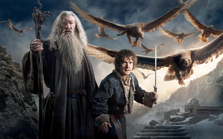 Gandalf Bilbo Baggins Hobbit 3 Wallpapers HD Wallpapers 2880x1800