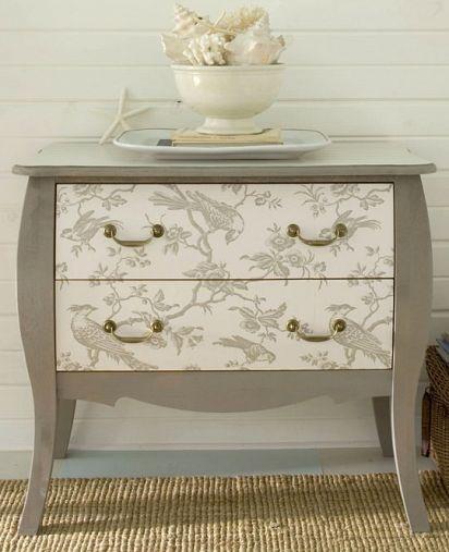 DIY   Wallpaper your furnitureDecor Ideas Painting Furniture Old 412x507