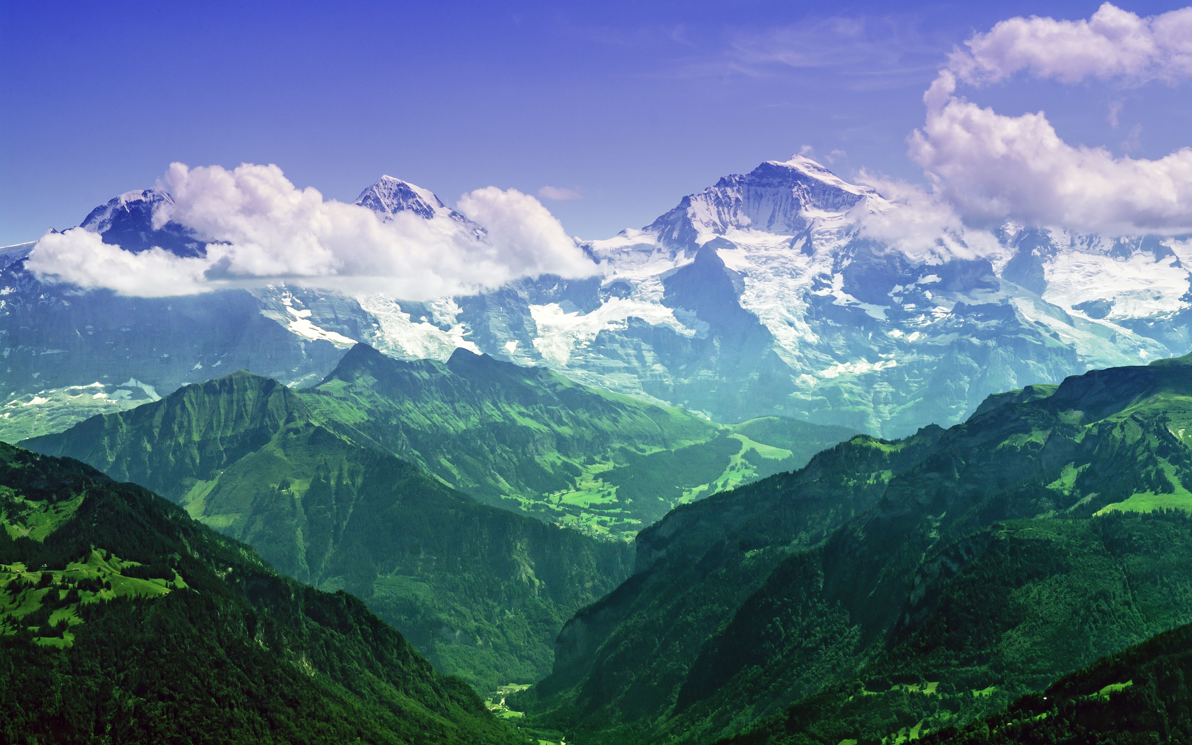 Bernese Alps Switzerland wallpapers and images 3840x2400
