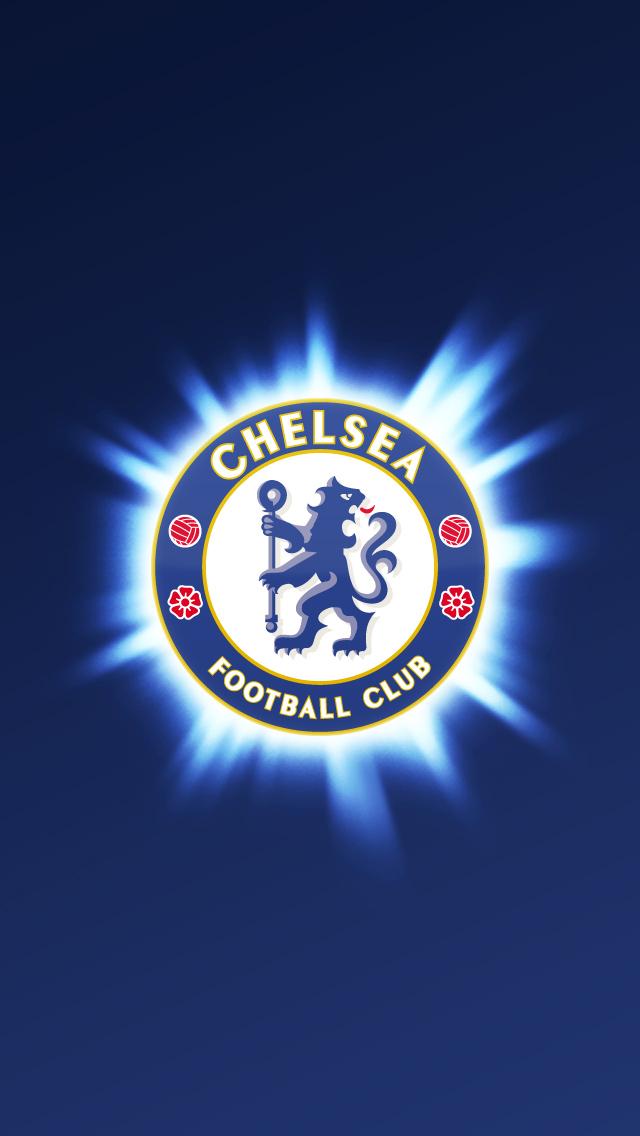 Chelsea logo burst   Best iPhone 5s wallpapers 640x1136