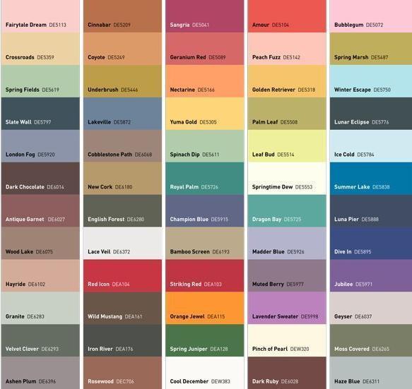 Dunn Edwards Paint Color Chart Home Design Ideas 583x551
