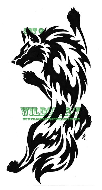 f873c8c7 wolf tribal tattoo by wildspiritwolf on deviantart tribal wolf 400x742