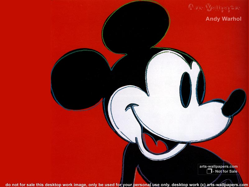 Andy Warhol Mickey Mouse 800x600