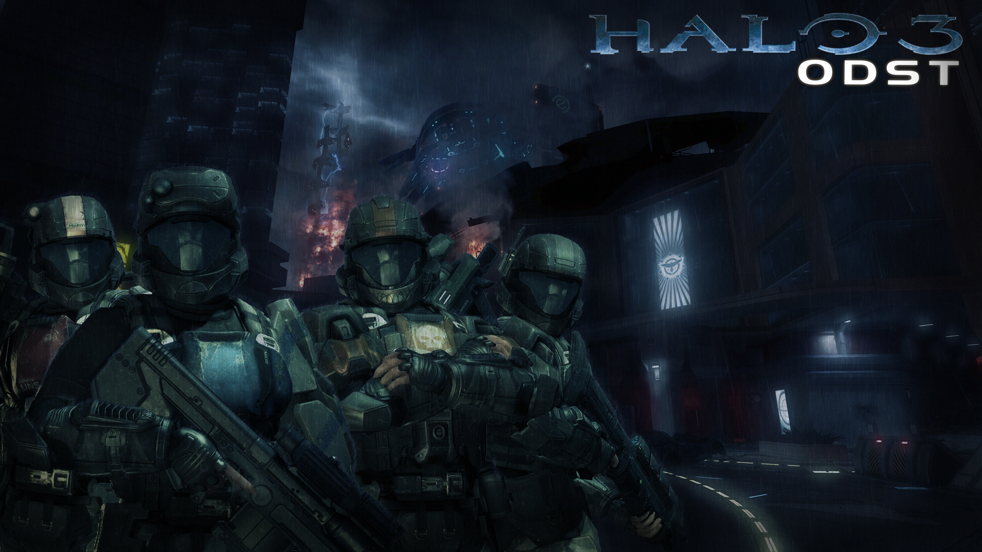 Free Download Wallpaper Halo 3 Odst By Mackaged 1920x1080 For