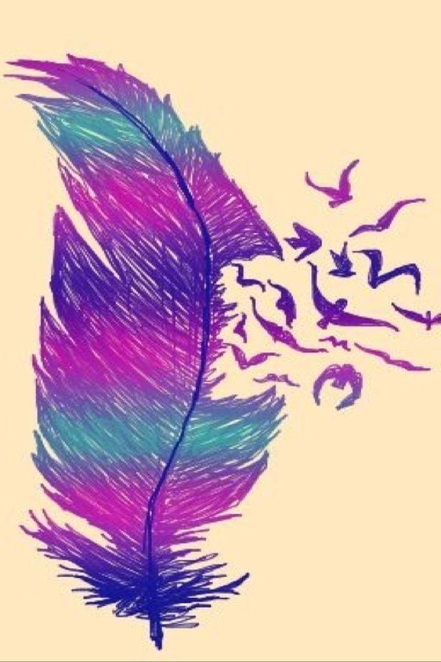 Feather birds iPhone background Pinterest iPhone 640x960