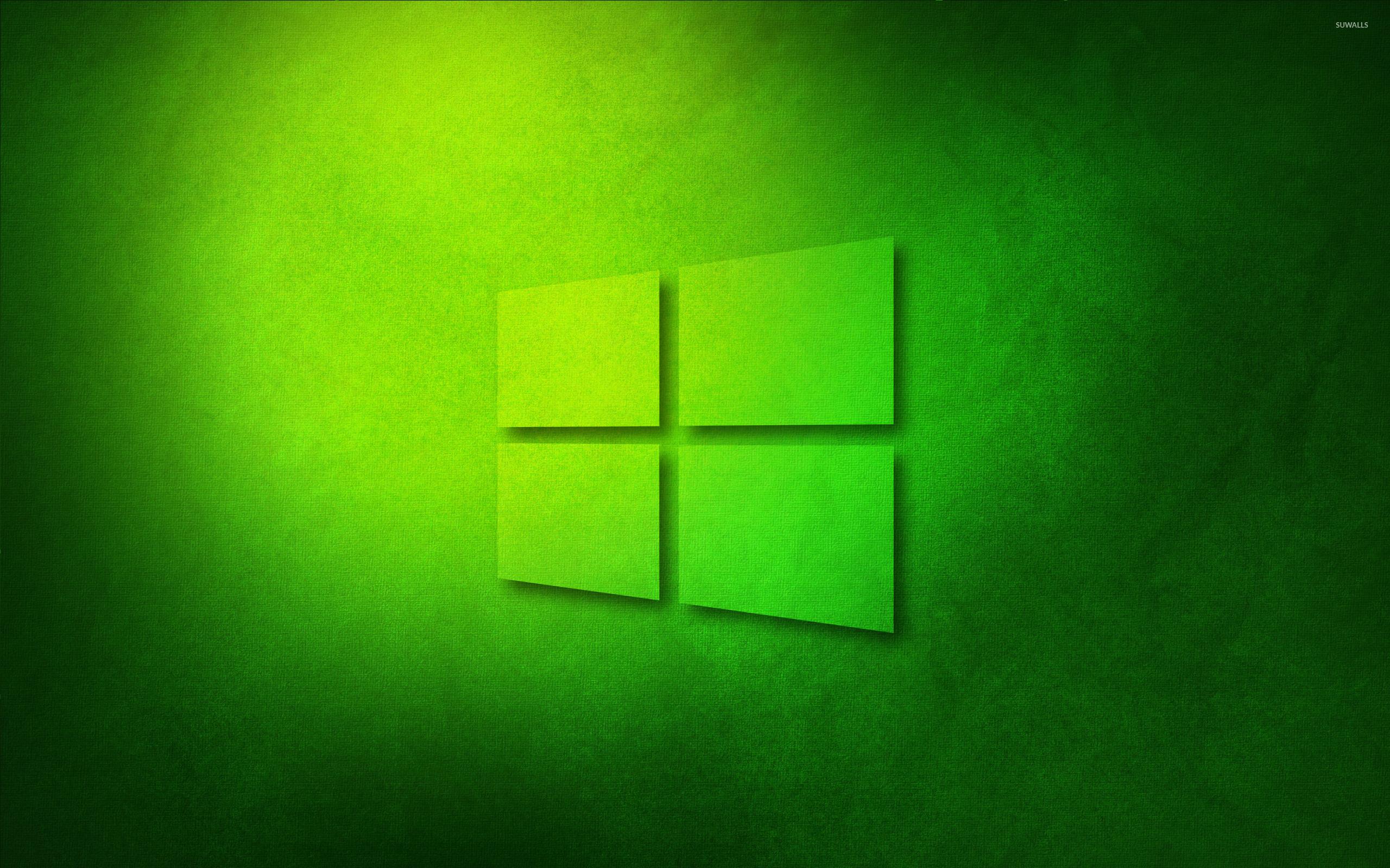 Windows 10 transparent logo on green paper wallpaper 1680x1050 1680x1050