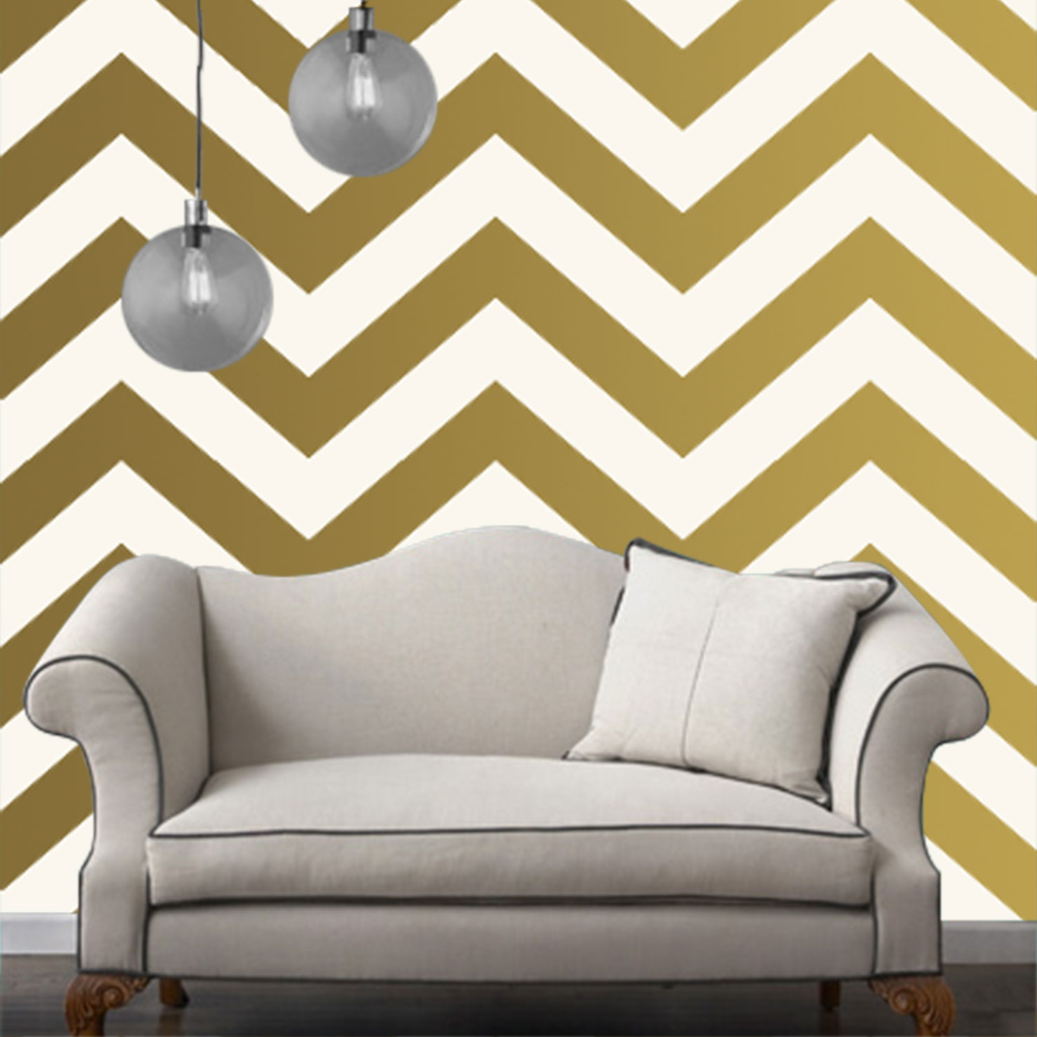 chevron gold temporary wallpaper tired of staring at empty white 1500x1500