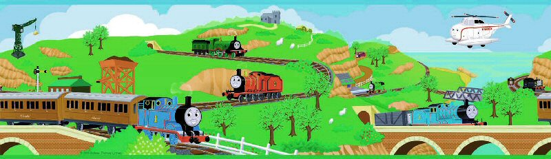 Thomas Train Wallpaper - WallpaperSafari Thomas And Friends Wallpaper Border