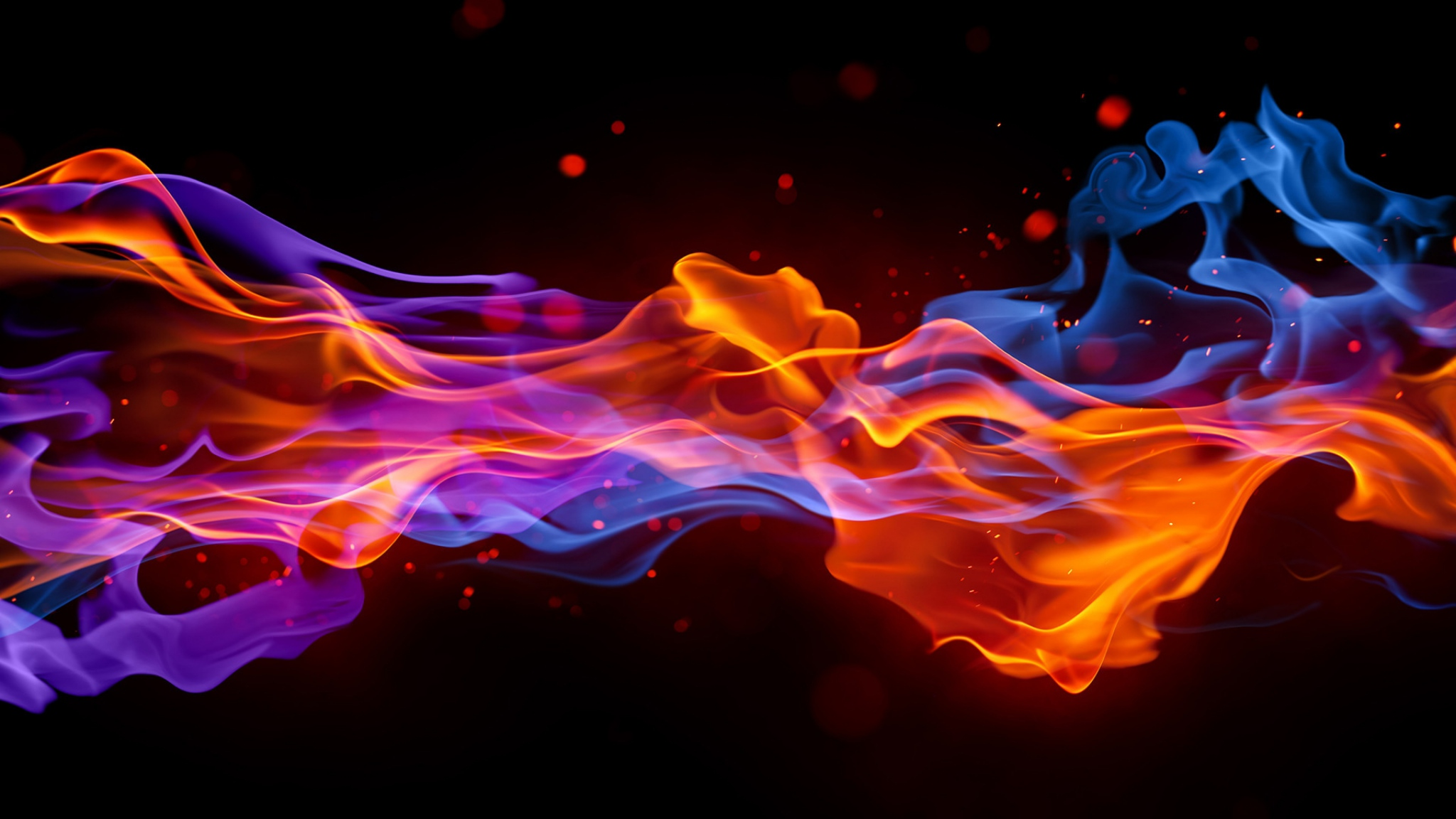 Download Wallpaper 2048x1152 Smoke Fire Bright Colorful Background 2048x1152