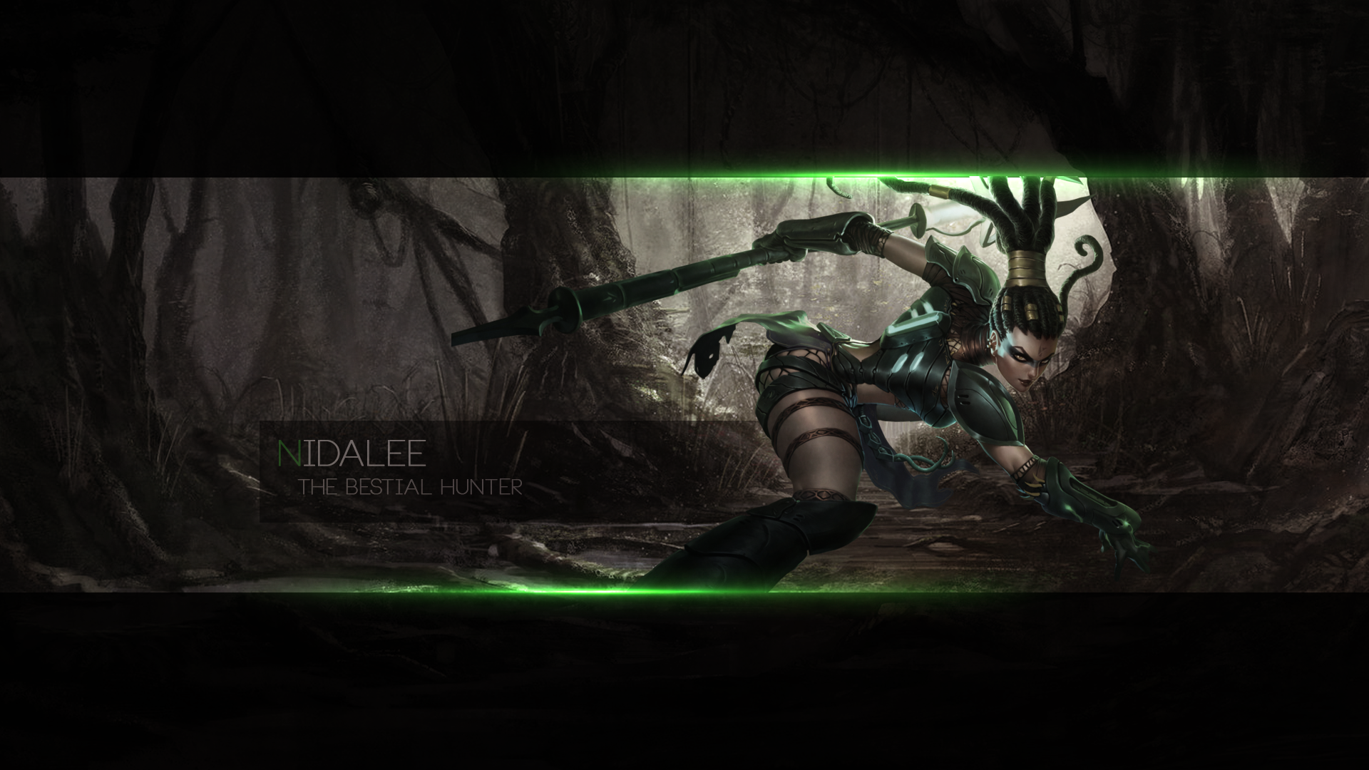 Nidalee   Full HD Wallpaper by SomeBeNNy 1920x1080