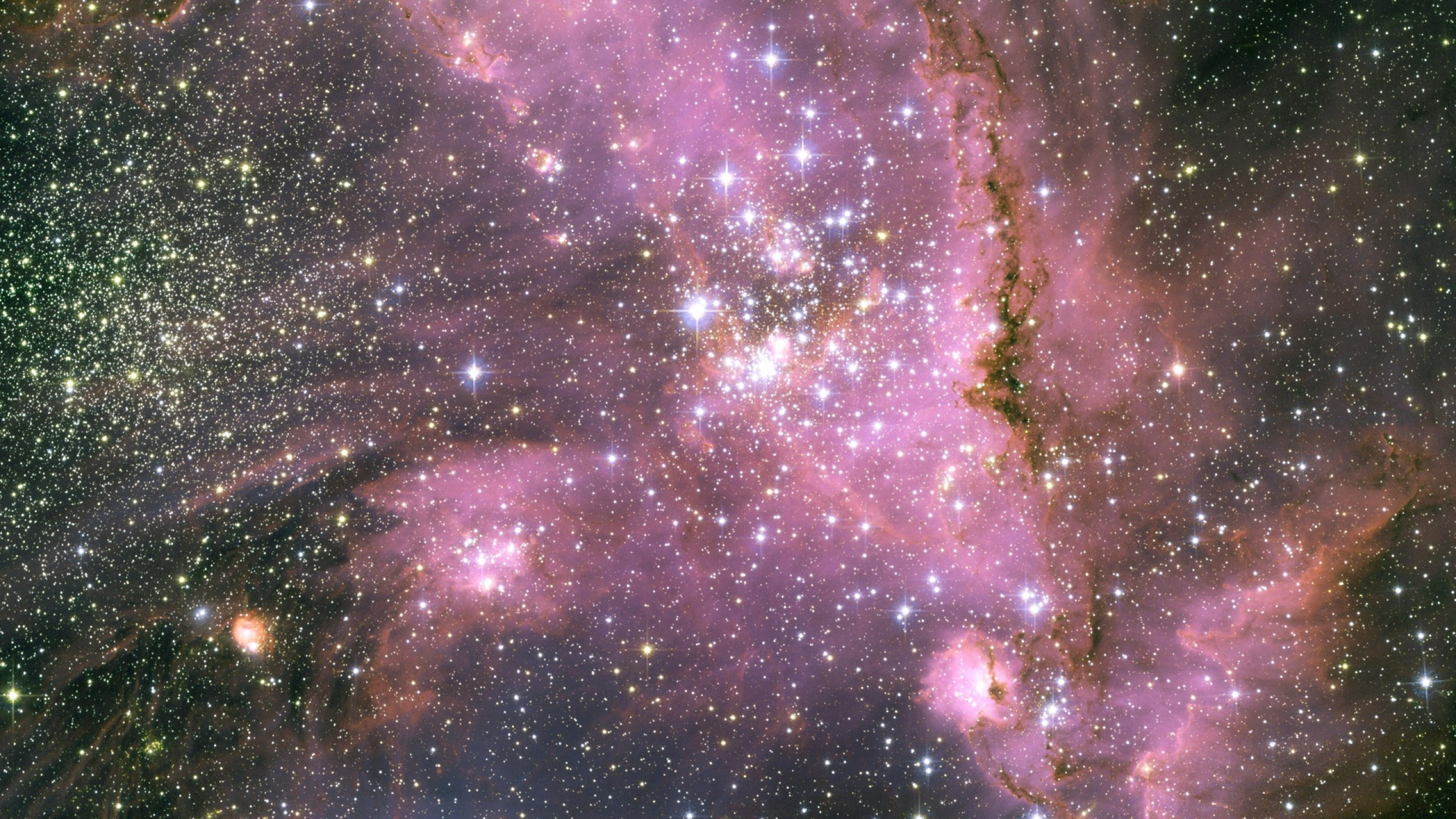Download Wallpaper 2560x1440 Stars Pink Light Galaxy Mac iMac 27 HD 2560x1440