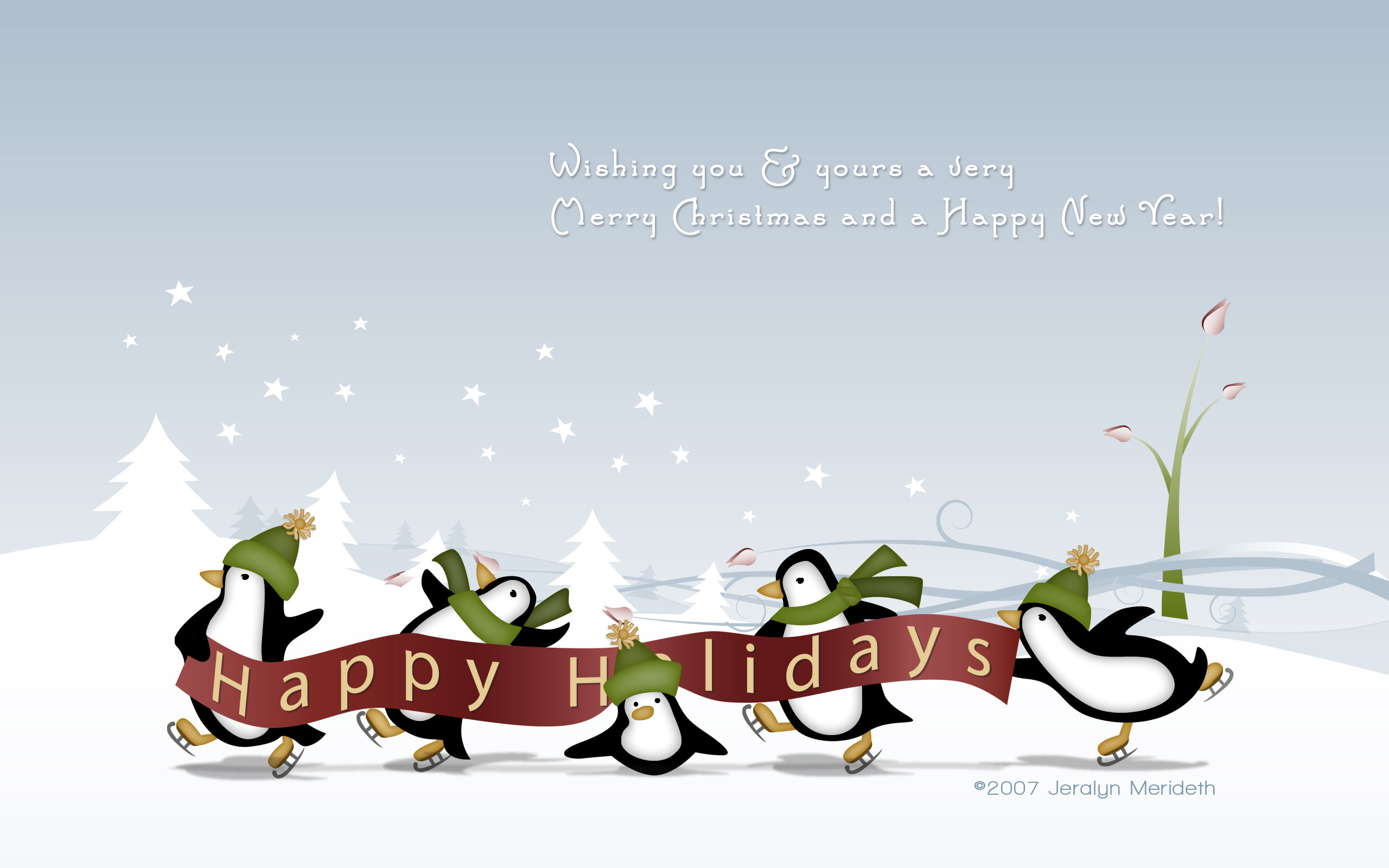 Happy Holidays Wallpapers 2560x1600