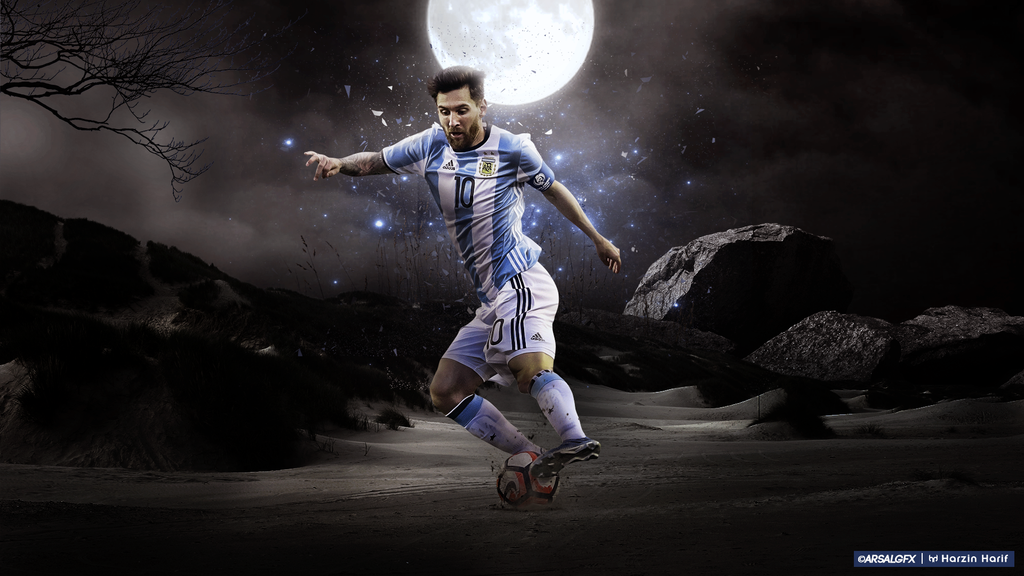 Leo Messi Wallpaper   2016   Argentina by harzi17 on 1024x576