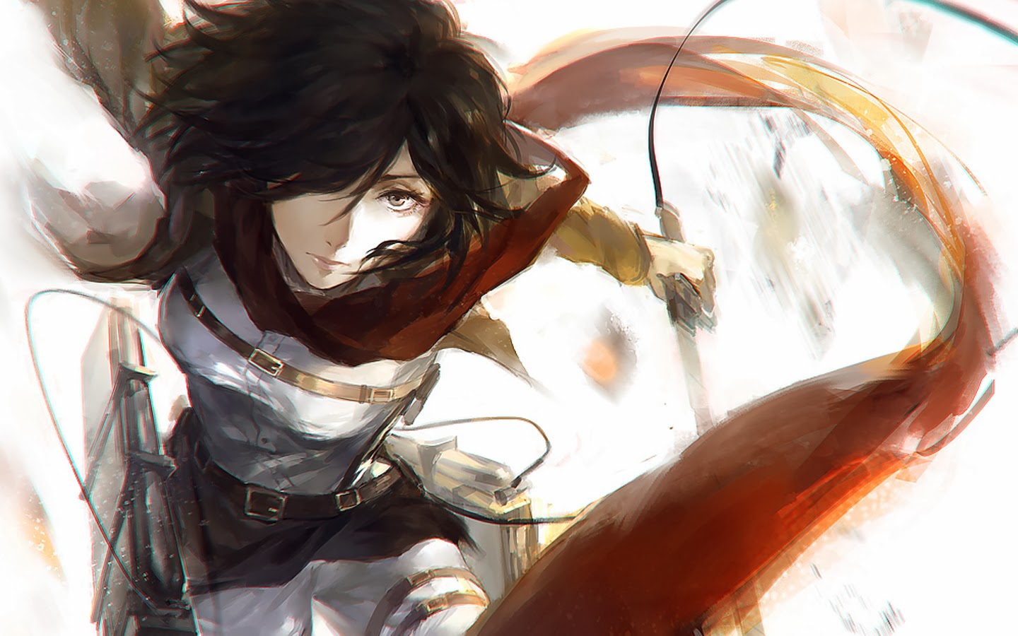 49 Attack On Titan Mikasa Wallpaper On Wallpapersafari