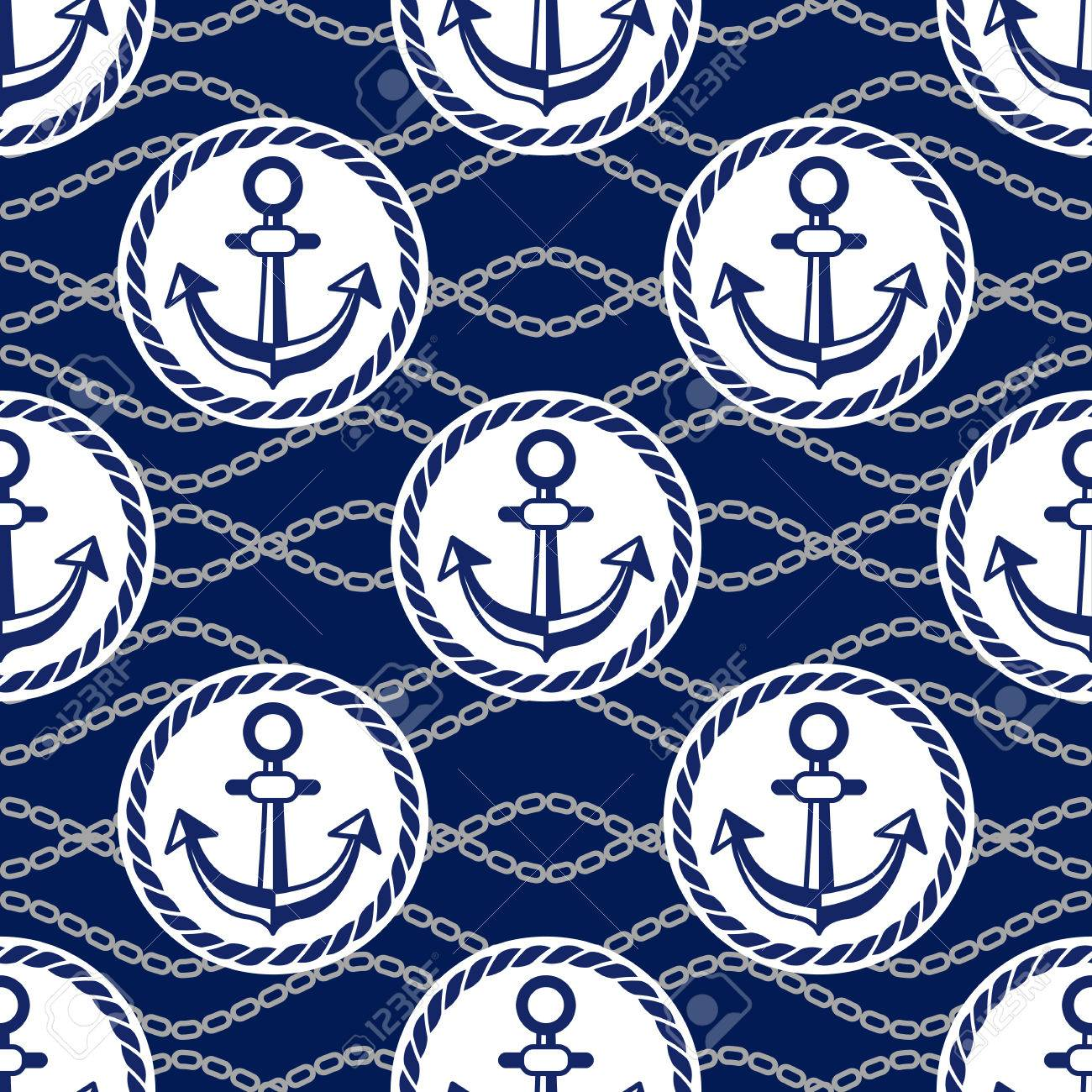 A Seamless Pattern With Anchors Design Ongoing Backgrounds For 1300x1300
