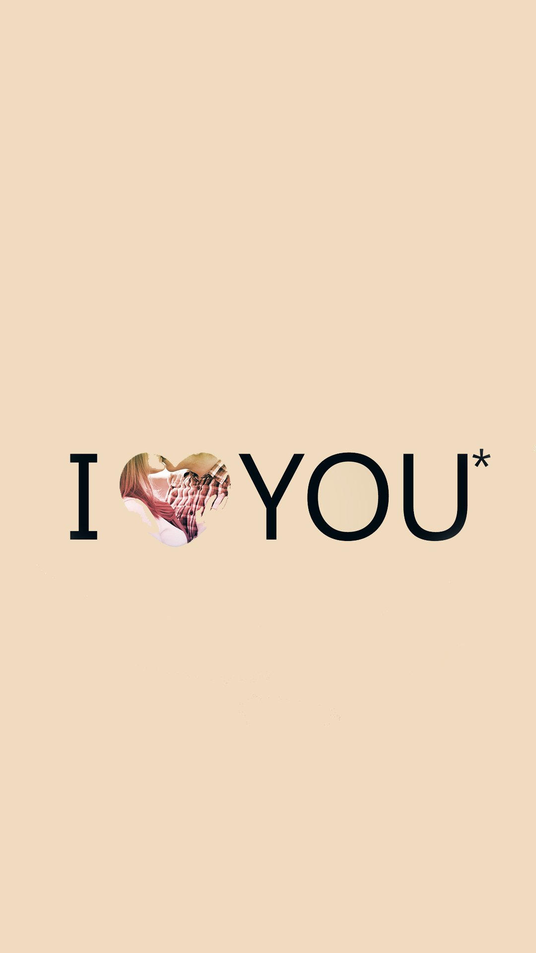 I Love You Typography Pink Heart Android Wallpaper 1080x1920