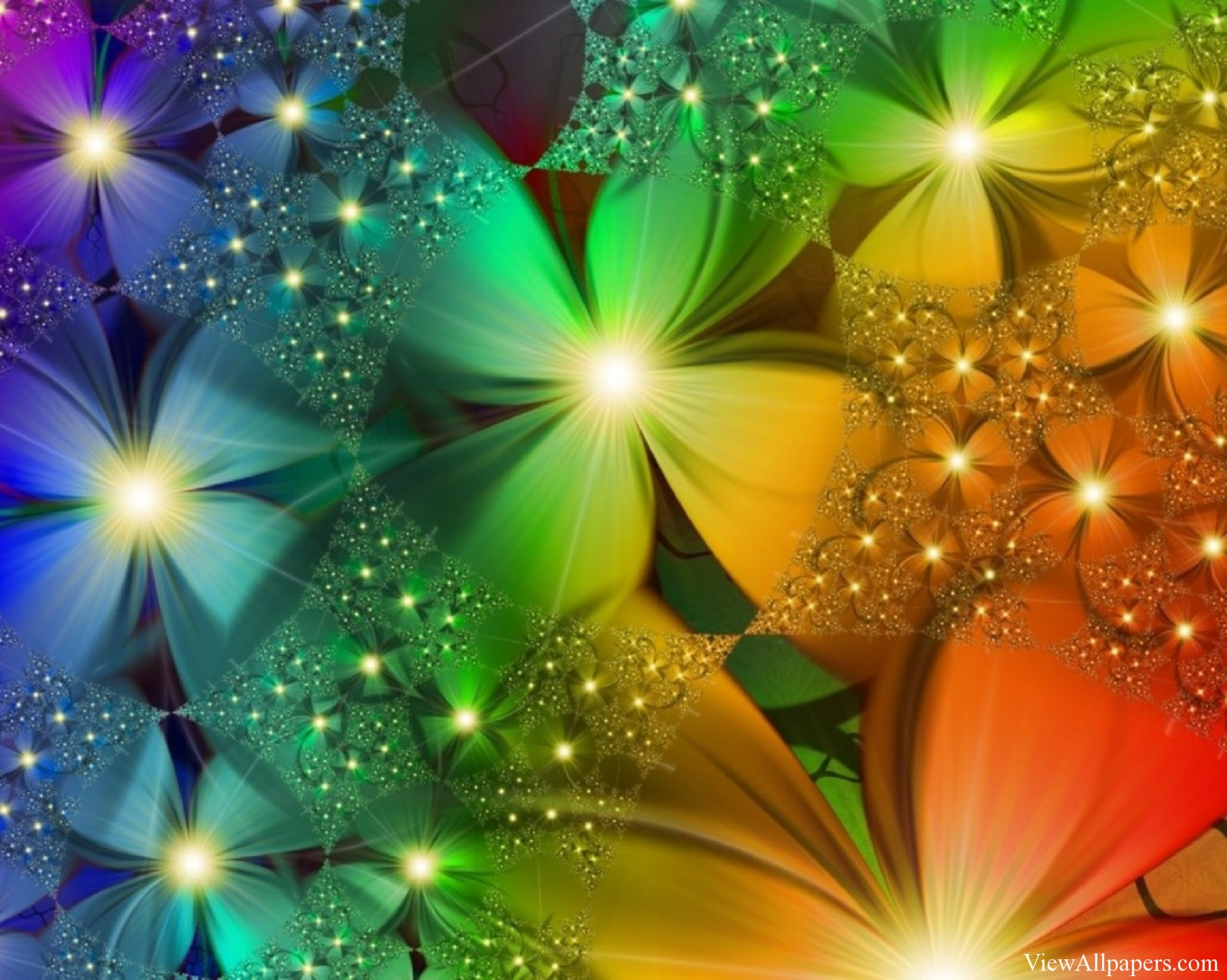 Free 3d Colorful Flowers Wallpaper Wallpapersafari