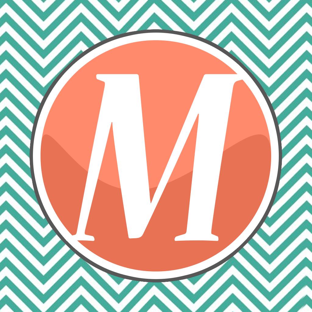 Monogram Wallpapers HD FREE Download Beautiful Chevron Pattern 1024x1024