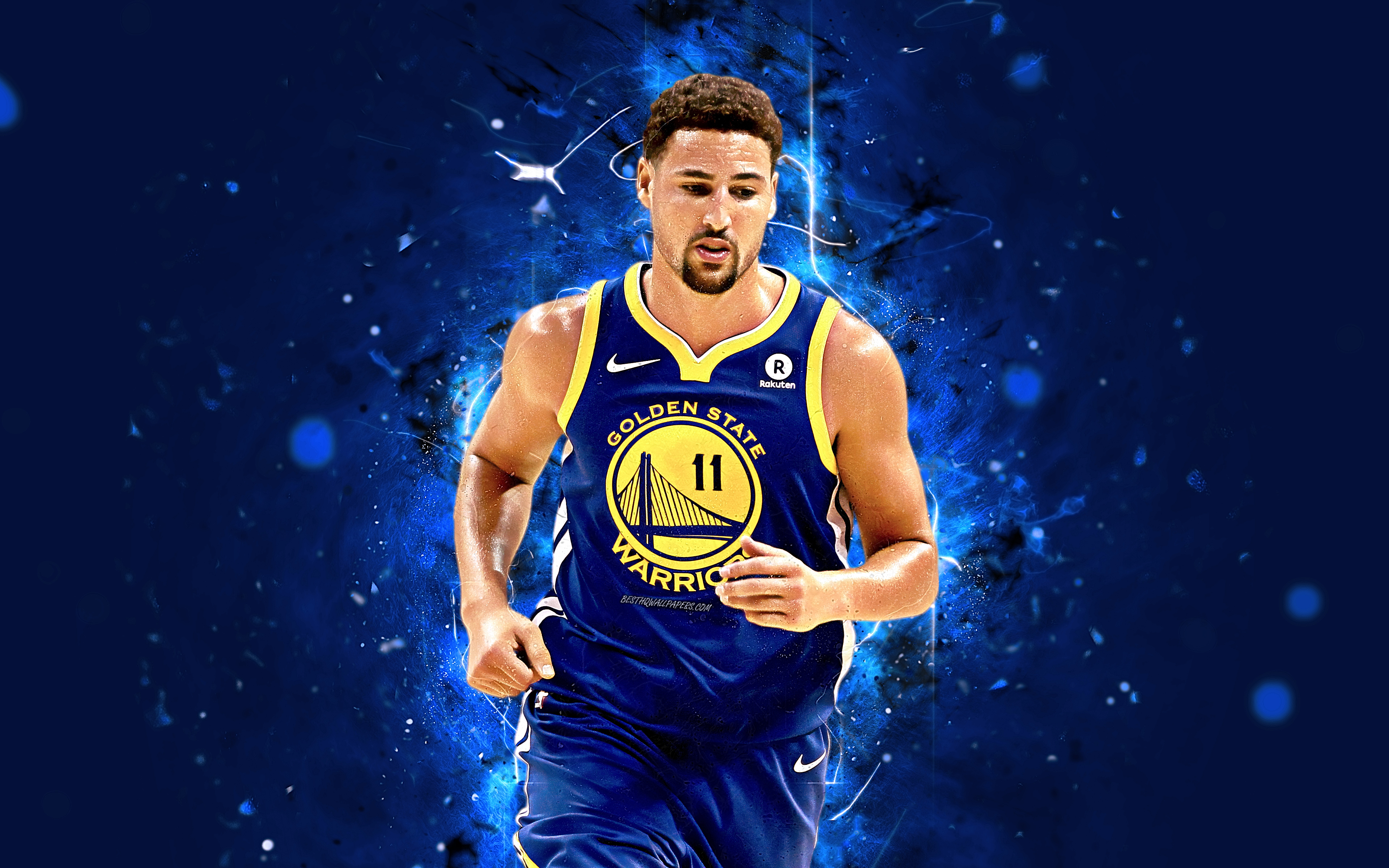 Free Download Download Wallpapers 4k Klay Thompson Abstract Art