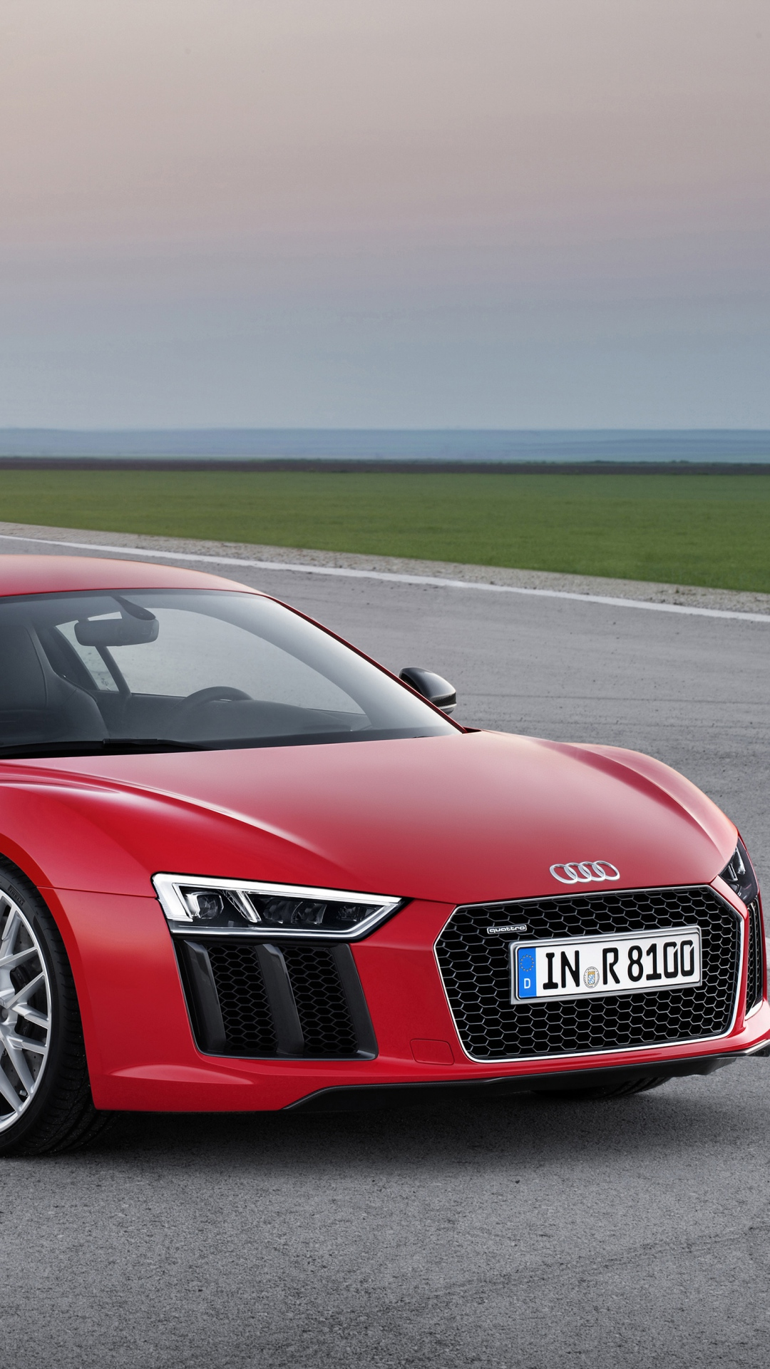 Download 1080x1920 Audi R8 V10 Red 2015 Wallpaper Background Sony 1080x1920