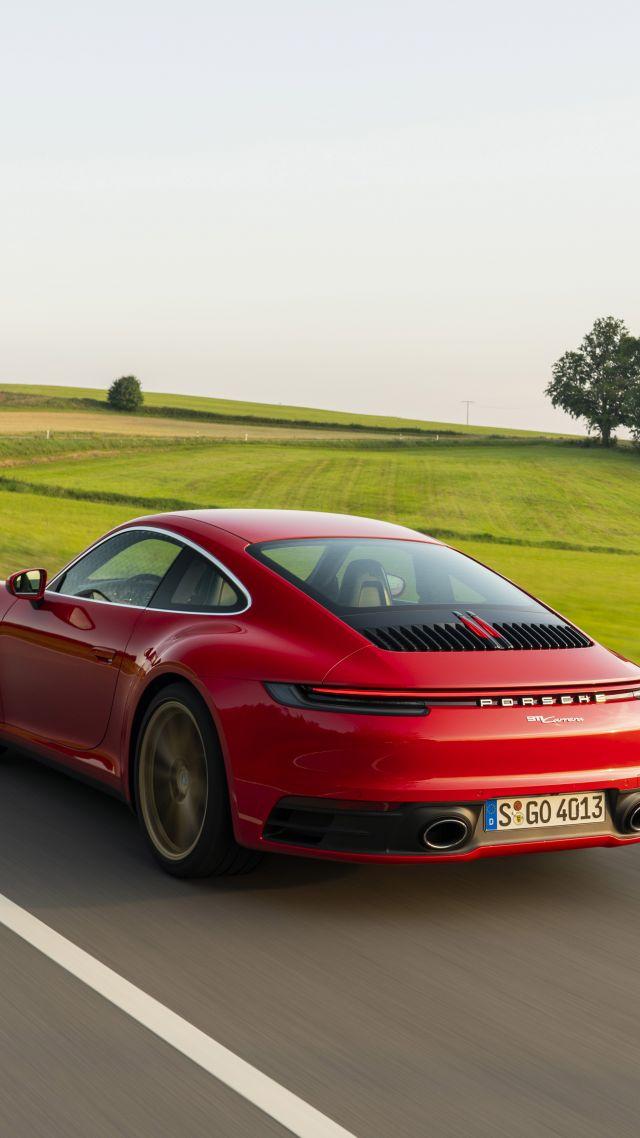Wallpaper Porsche 911 922 Carrera Coupe 2020 cars 5K Cars 640x1138