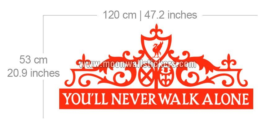 Youll Never Walk Alone Sticker   Moonwallstickerscom 900x420