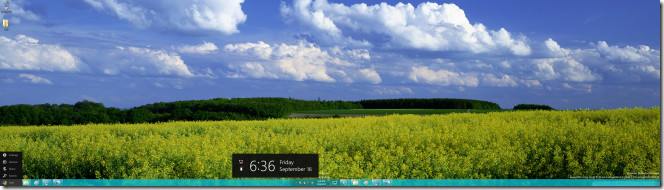 Windows 8 Extended Wallpaper And Taskbar Across Dual Monitors 664x190