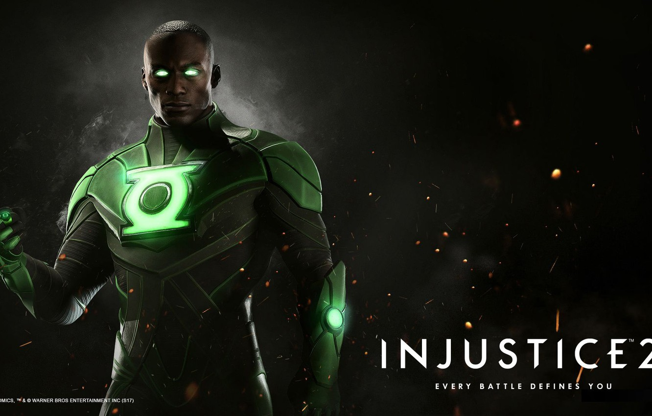 Wallpaper Green Lantern NetherRealm Studios Injustice 2 John 1332x850