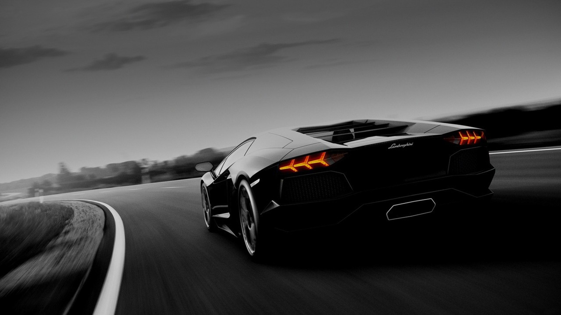Black Lamborghini Murcielago Racing desktop PC and Mac wallpaper 1920x1080