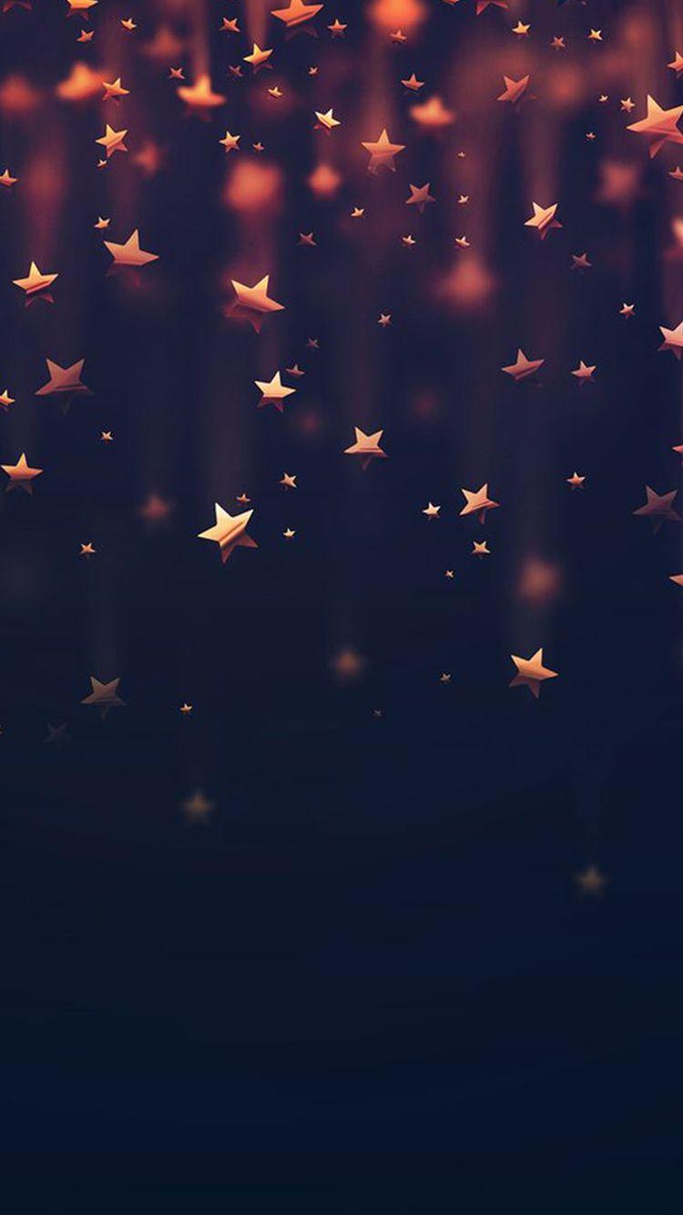 Golden Falling Stars iPhone 6 Wallpaper   http 750x1334