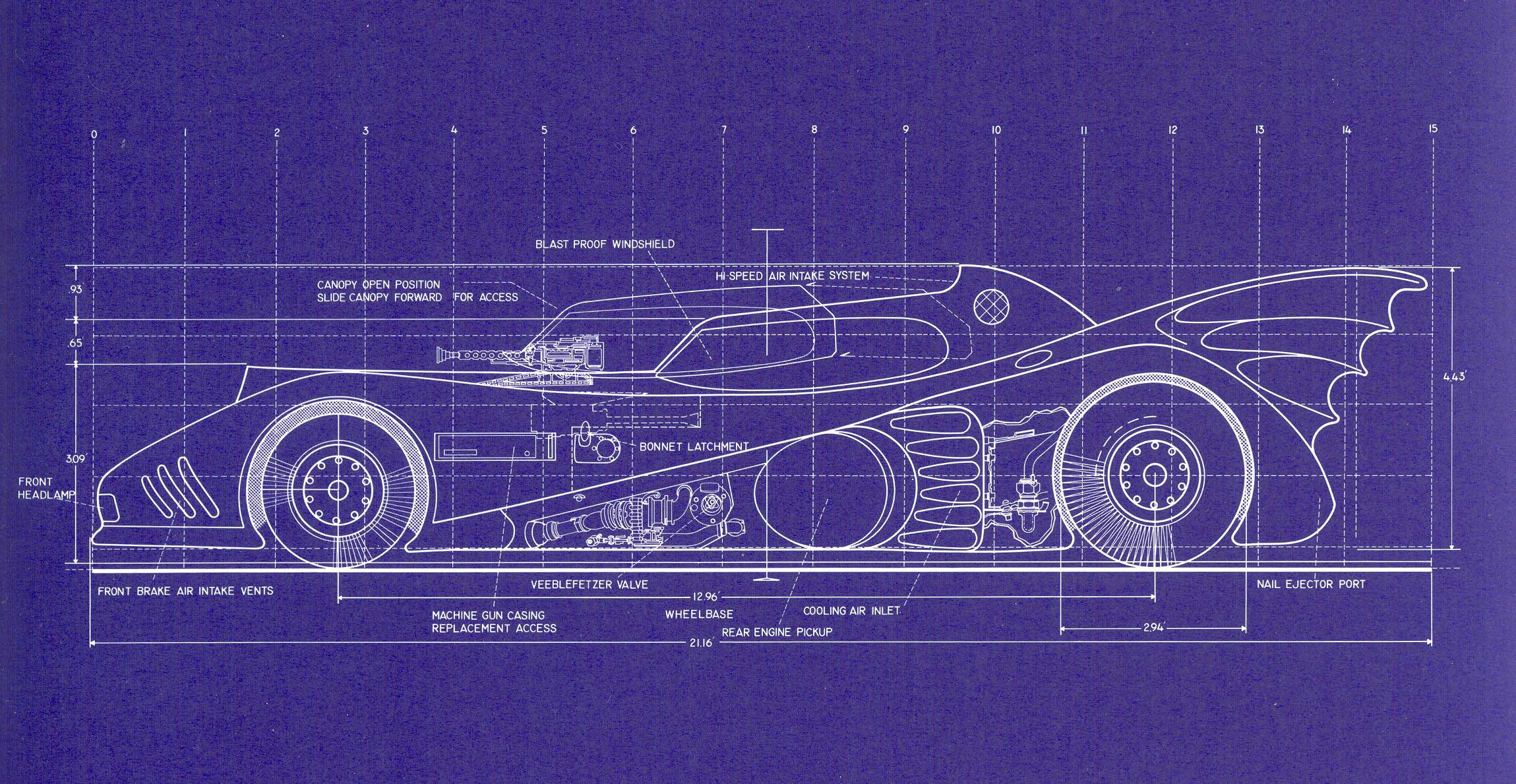 Batmobile Blueprints Batimovil Pinterest Batmobile Batman and 2299x1189