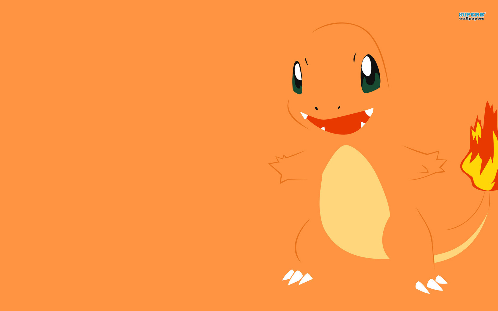 Pokemon Minimalist Charmander Minimalistic 78274 With Resolutions 1680 1680x1050