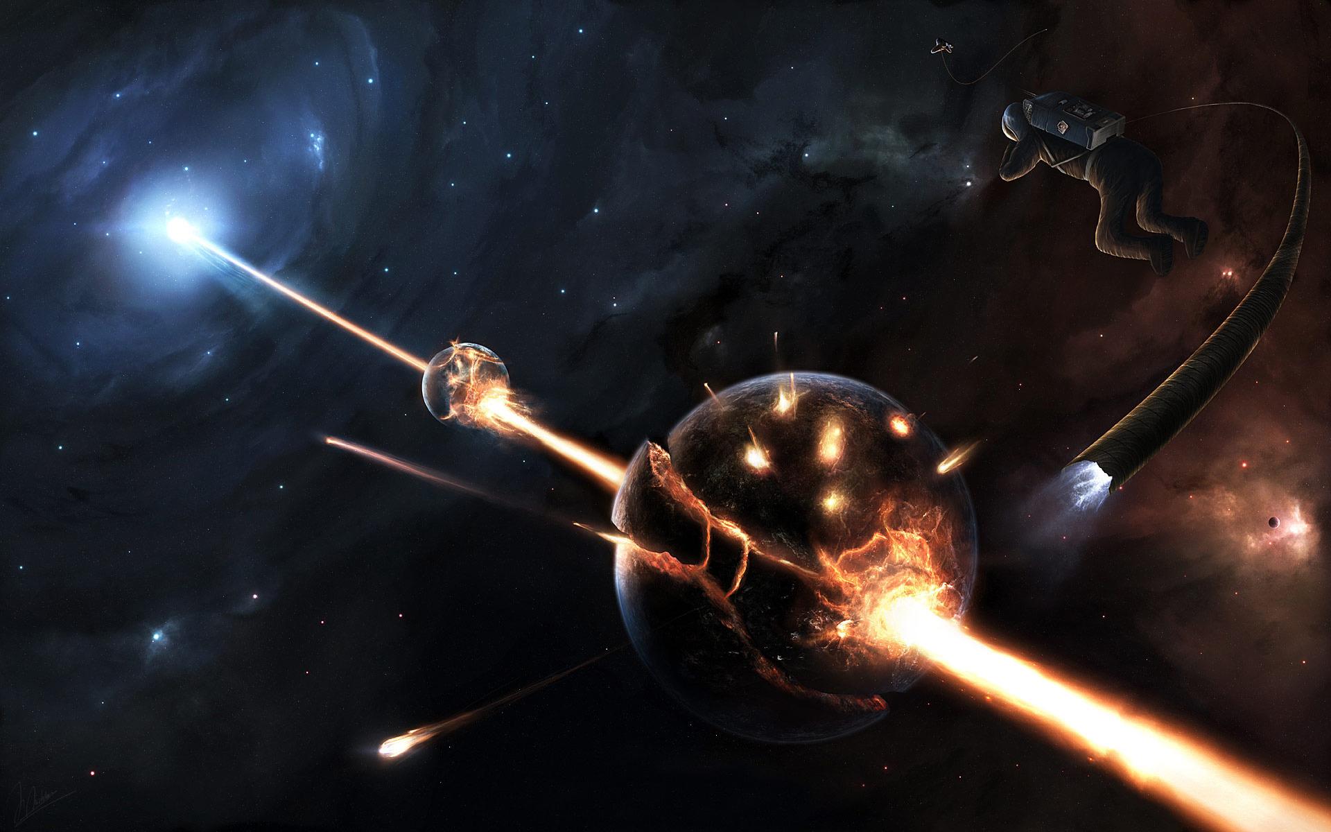 Обои Разрушенная планета, корабль картинки на рабочий стол на тему Космос - скачать  № 3552424 бесплатно