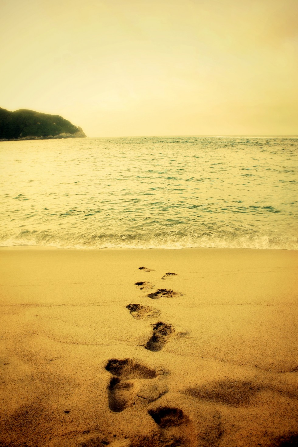 Footprints In The Sand Wallpaper - WallpaperSafari