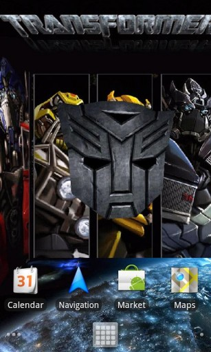 Transformers 3D Live Wallpaper for Android by killerappzz   Appszoom 307x512