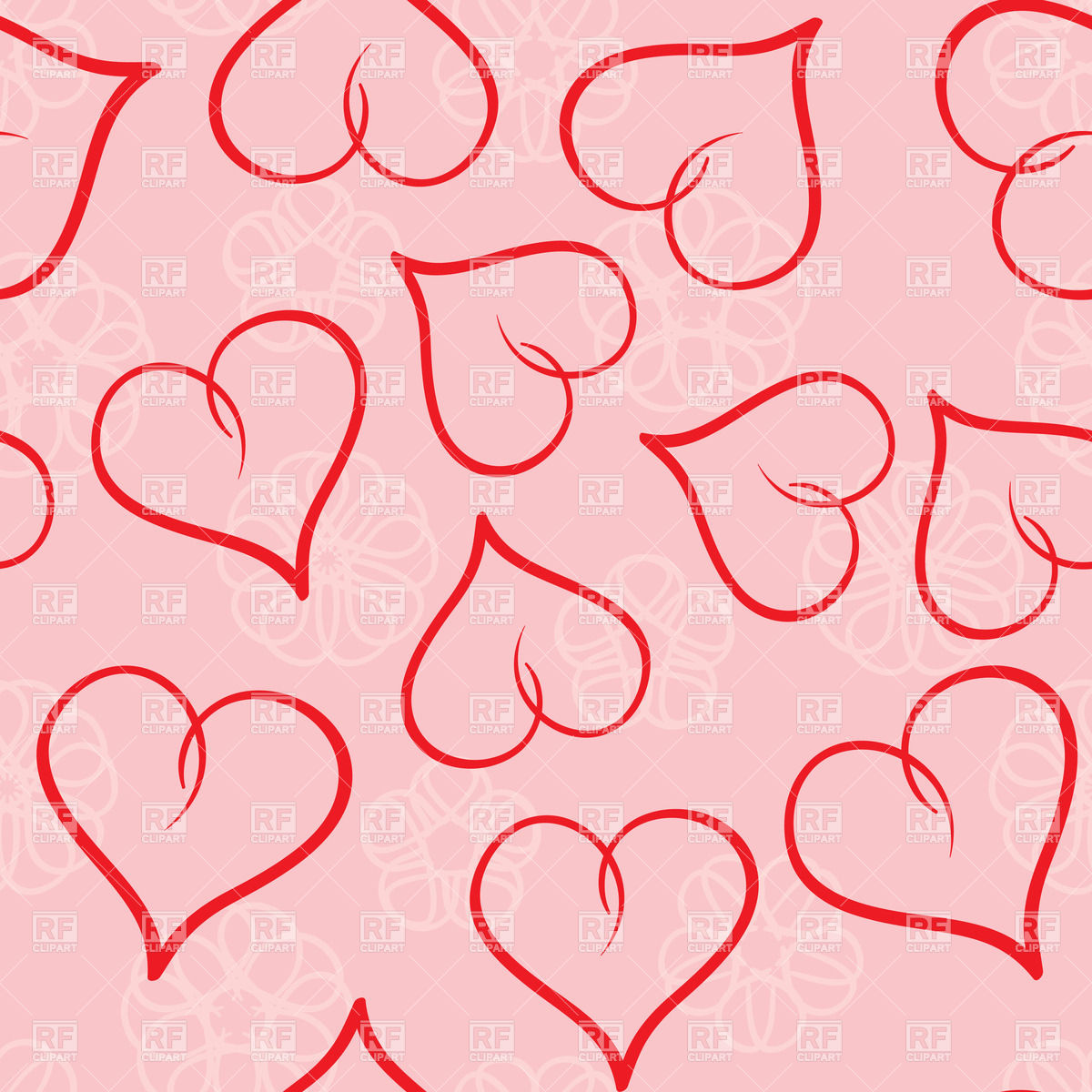 Valentines day seamless background Vector Image of Backgrounds 1200x1200