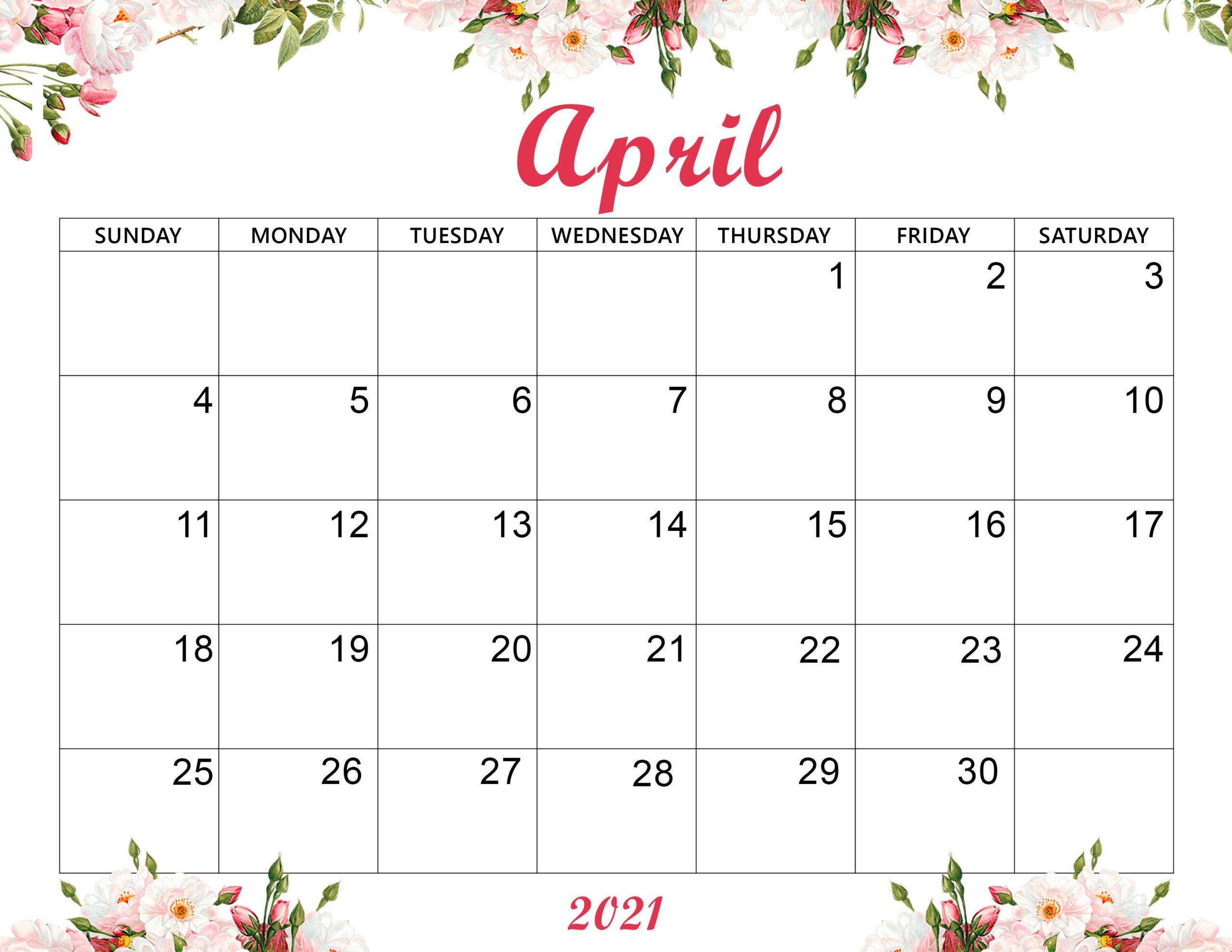 Cute April 2021 Calendar Desktop Wallpaper   Printable Calendar 2560x1978