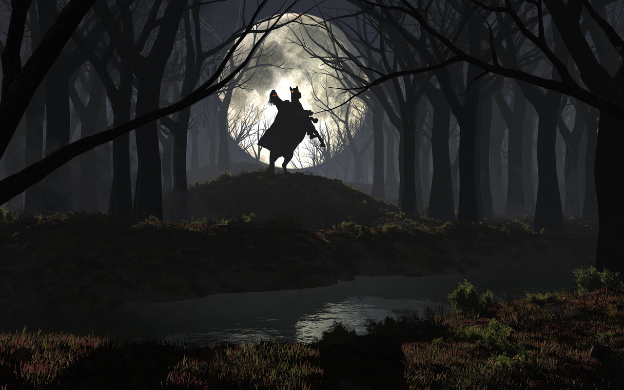 Spooky Forest Wallpaper - WallpaperSafari