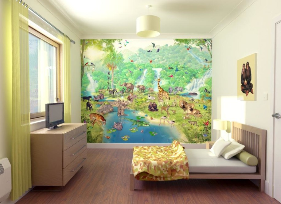 Home Wallpaper Wonderful Playroom Wallpaper Cartoon Character 915x666