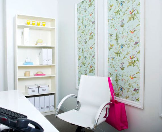 Wallpapered Panels   Home Design   Bright Bold and Beautiful Blog 570x463