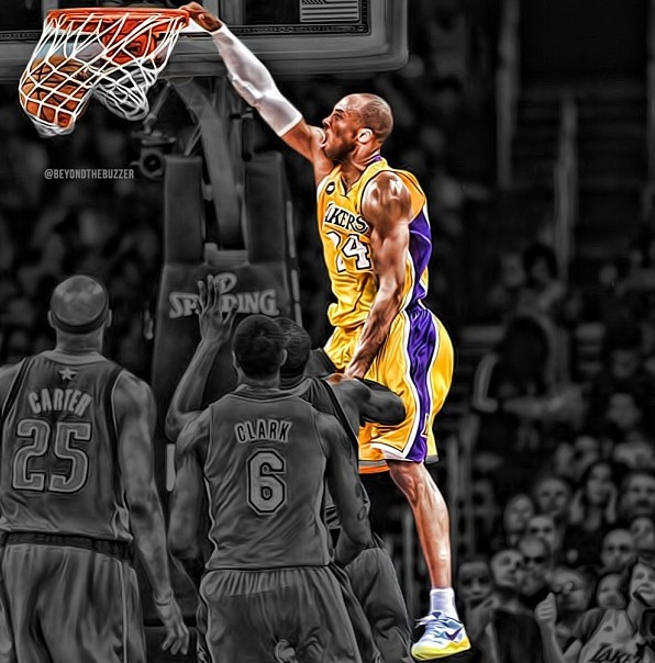 Knight Basketball Player Wallpaper: Kobe Bryant Dunk Wallpaper HD