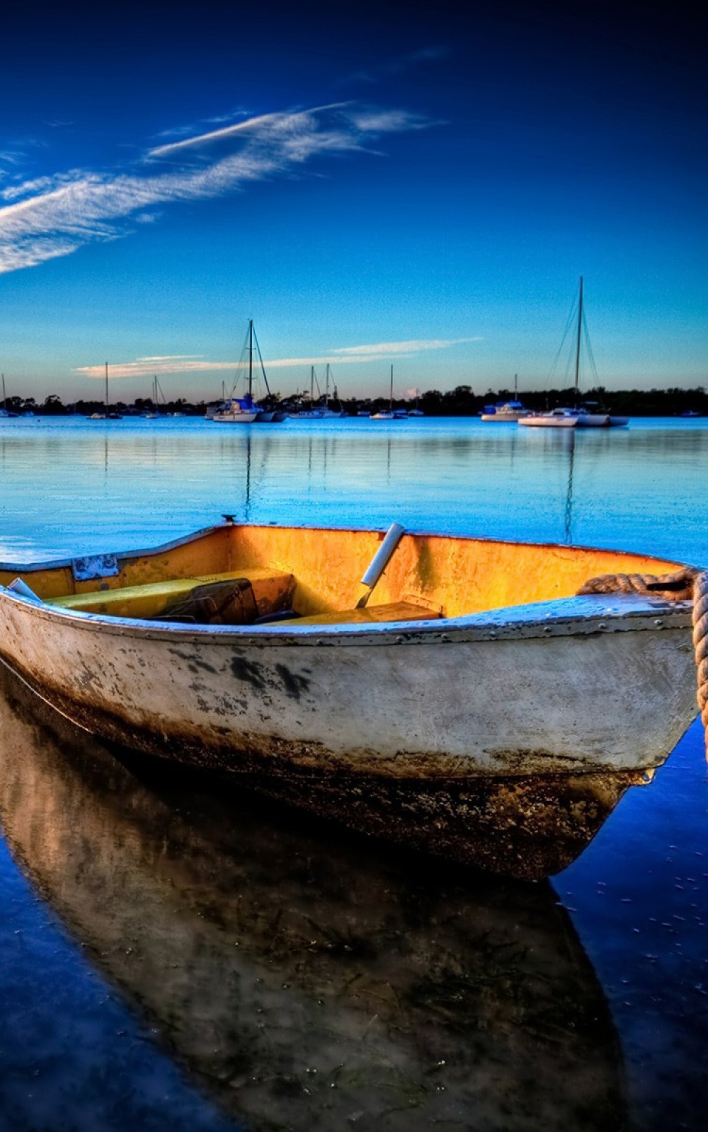Docked Wooden Boat iPhone 6 Plus HD Wallpaper iPod Wallpaper 1000x1600
