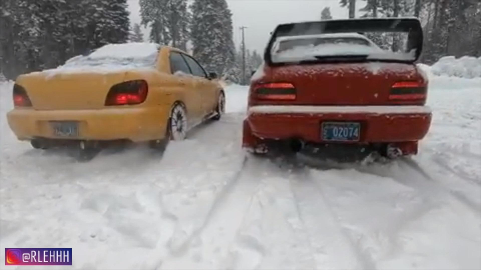 1998   1999 Subie Impreza WRX RSTi Swap snow drift subaru wrx 1920x1080