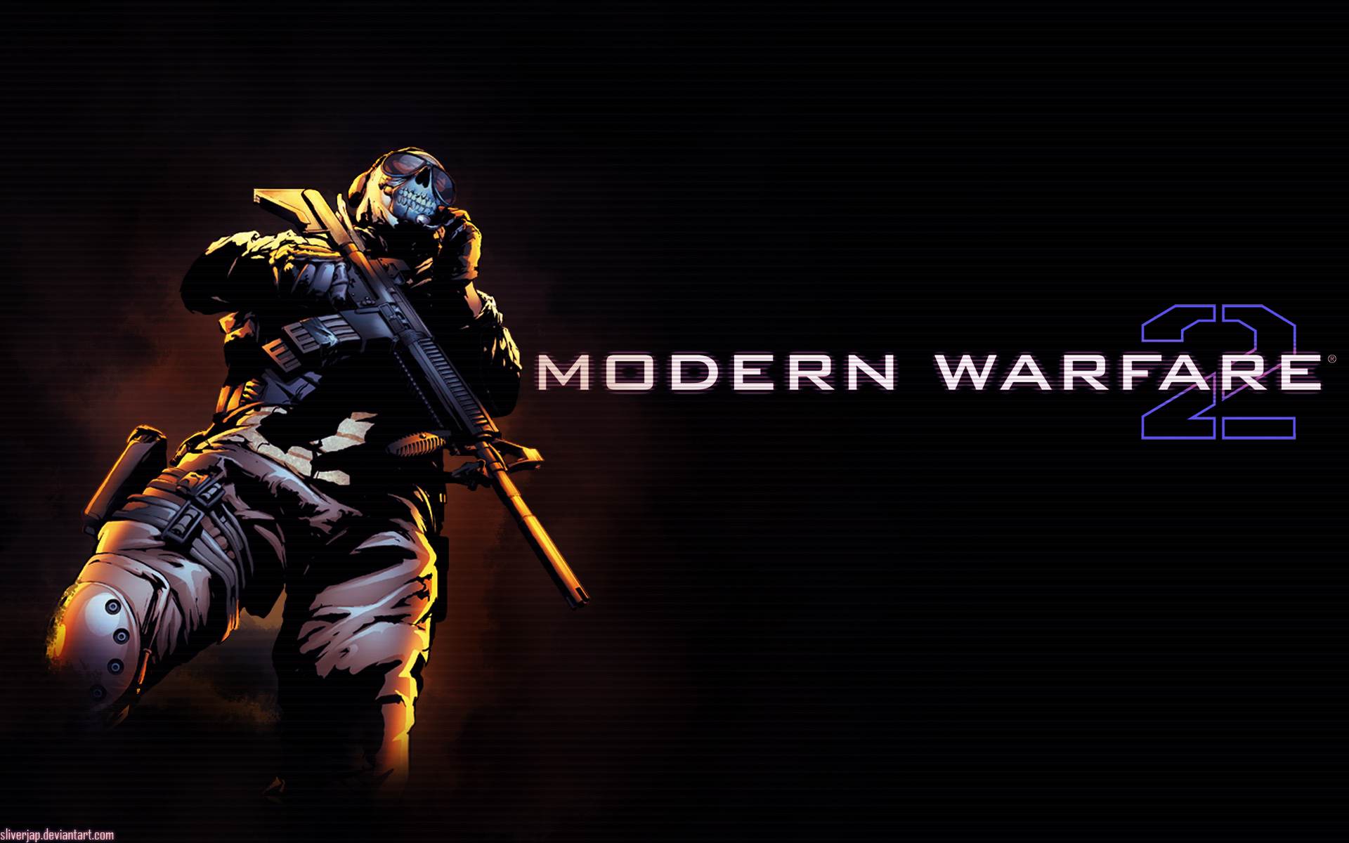 Modern Warfare 2 Ghost Art Wallpapers Modern Warfare 2 Ghost Art 1920x1200