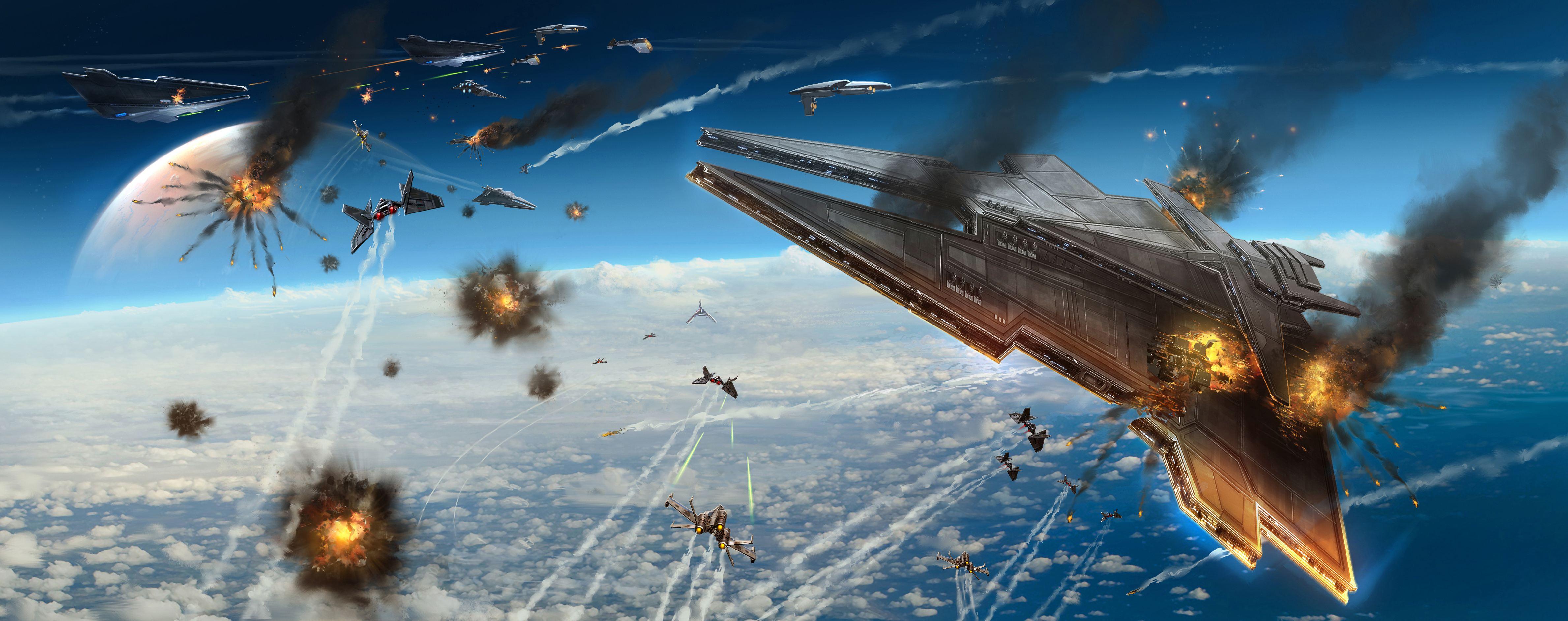 Space War HD Wallpaper Aircraft Wallpapers 4757x1885